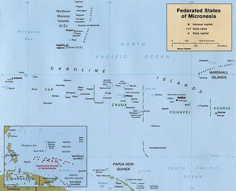 Map of the Federated States of Micronesia  2v